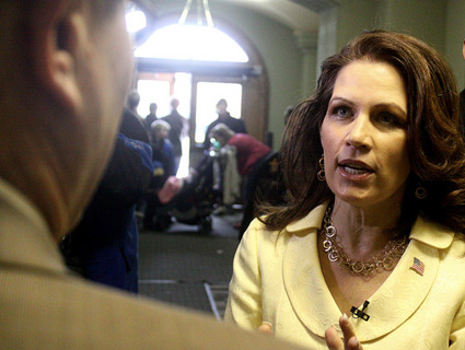 Bachmann-talking-supporter