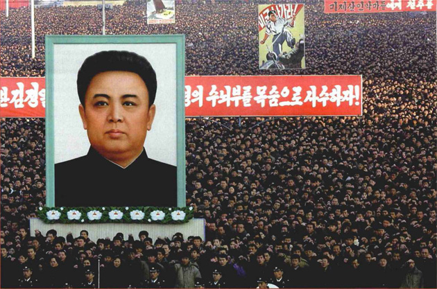 North Korea's Kim Il Sum Square, home to mass rallies and air-raid drills designed to prepared the populace for a nuclear war with the US.: Newscom