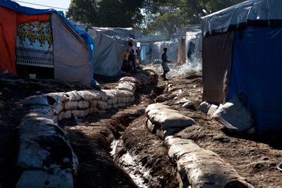Makeshift encampments like this one are home to 1.2 million people and terrorized by gangs of rapists.