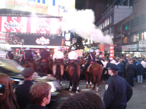 Tensions rise in Times Square: Josh Harkinson