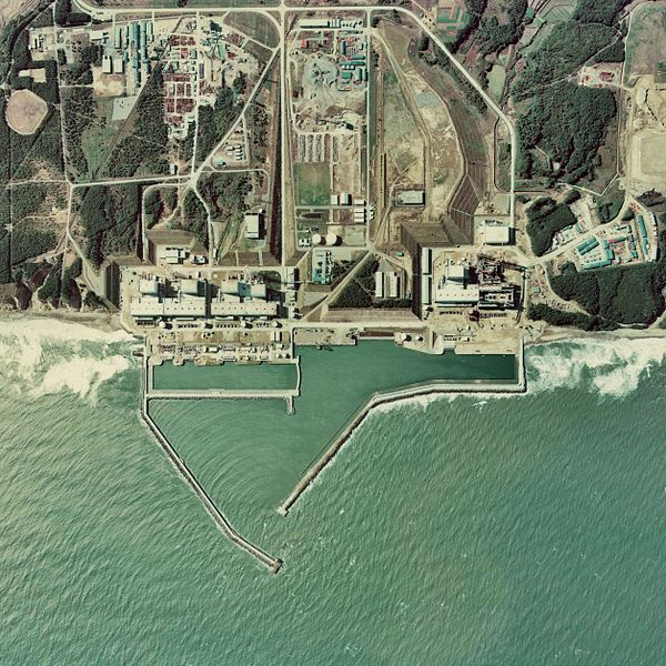 Fukushima Dai-ichi Nuclear Power Plant. Credit: Japan Ministry of Land, Infrastructure and Transport. AirPhoto, via Wikimedia Commons.