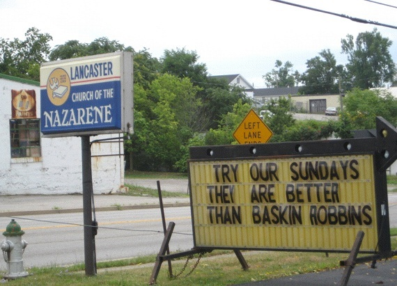 "Sunday Best: Sometimes ""God Bless America"" just isn't enough. The Lancaster, Kentucky Church of the Nazarene demonstrates the advertising prowess of the nation's spiritual marketplace."
