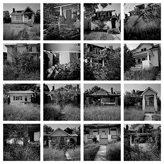 Some 45,000 abandoned houses pock Detroit. The ones pictured below are all found on one block. Detroit demolishes only 500 homes a year, thanks to concerns over lawsuits and environmental hazards, as well as lack of funds and ineptitude.