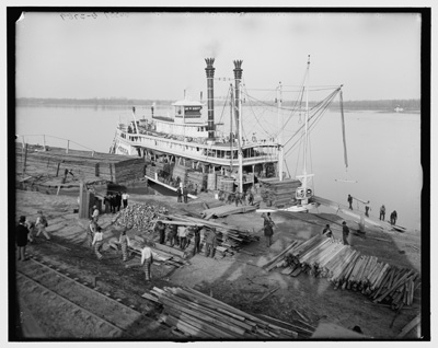 Angola Landing, State Penitentiary farm, Mississippi River, La.: Photo: Library of Congress