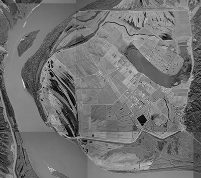 Aerial view of Angola prison, January 10, 1998.: USGS