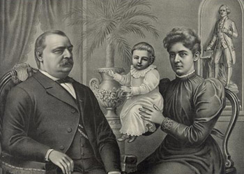 Ma, ma where's my pa? Grover Cleveland refuses to kiss yet another baby (his own).: Library of Congress