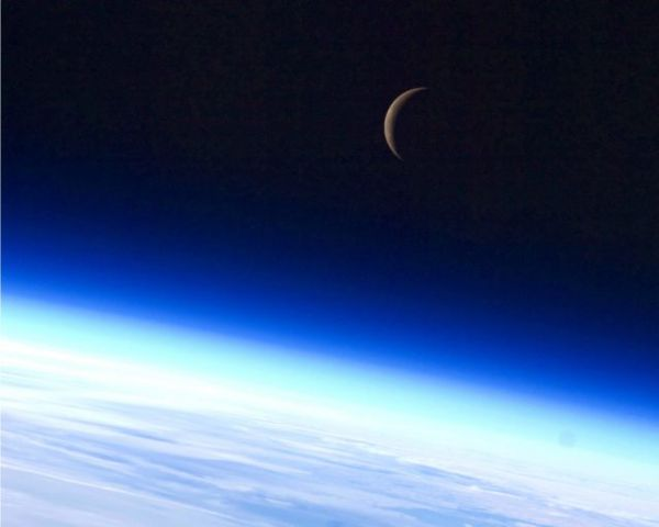 Crescent moon. Credit: NASA.