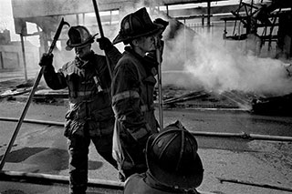 Shoddily equipped firemen face some 500 arsons a month.