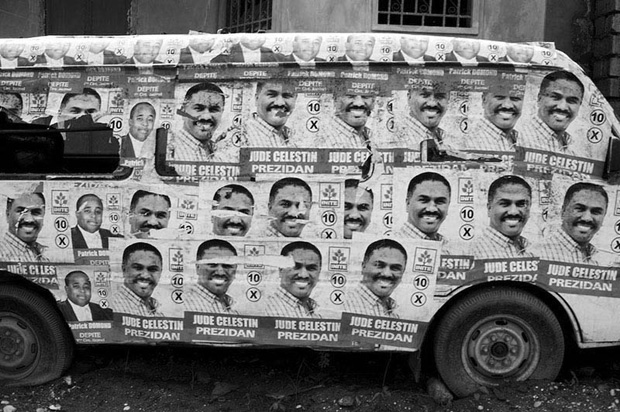 Election posters for losing Presidential candidate Rene Celestin are still Prevalent throughout Haiti, including on the road to Jacmel.