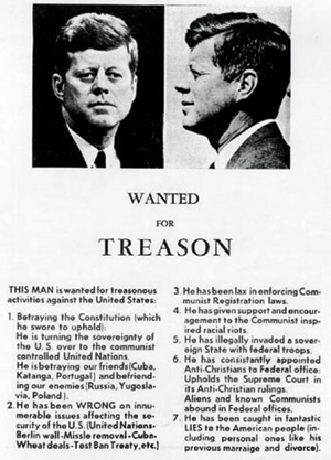 John Birch Society fliers like these circulated in Dallas before the JFK assassination.