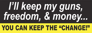 Bowman had a bumper sticker like this one on his car, according to court records. (Patriot Depot).