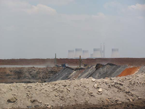 Kendal, as seen from a nearby mine. Eskom, which owns the plant, estimates that 15 additional mines will be needed in the region by 2015 to supply coal to the plants.
