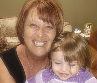 Linda Ware with granddaughter