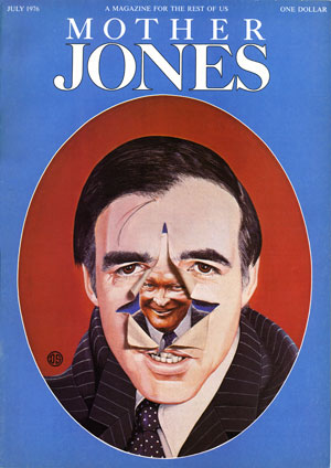 Mother Jones, July 1976 cover: Illustration by Dugald Stermer
