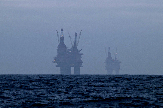 North Sea platforms: tjodolv via Flickr.