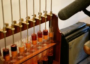 "This instrument allows you to ""play"" blood from the pig that starred  in Matthew Herbert's album.: Photo by Patricia Niven"