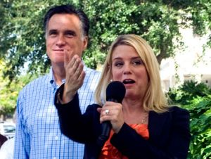 Florida Attorney General Pam Bondi at a Romney campaign event last September. : Cherie Diez/ZUMA