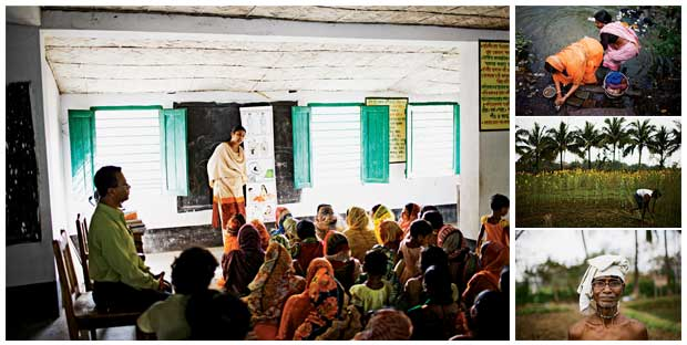 Scenes from rural Bengal, where a microloan program called Bandhan teaches women basic hygiene and sex education. The result is a revolutionary way to battle poverty and disease.