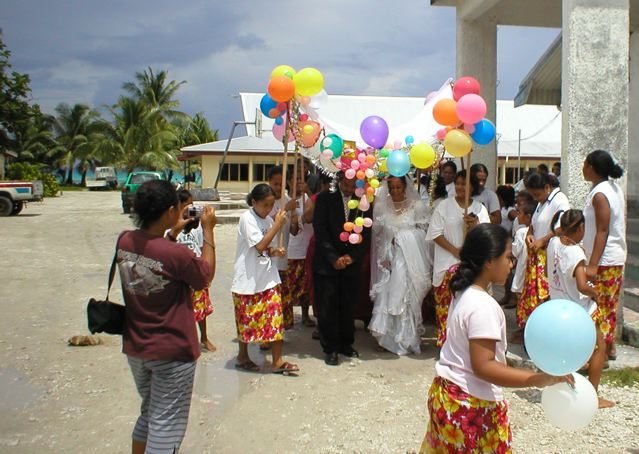 Wedding on Funafuti atoll, Tuvalu.: Credit: © Julia Whitty.