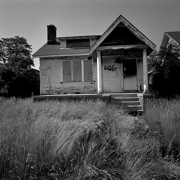 Abandoned Houses: One Block In Detroit