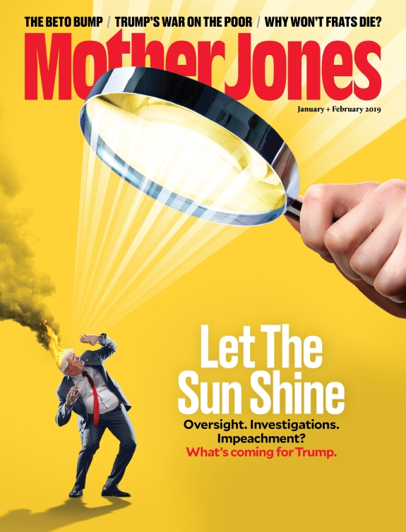 Mother Jones Magazine Cover : January + February 2019
