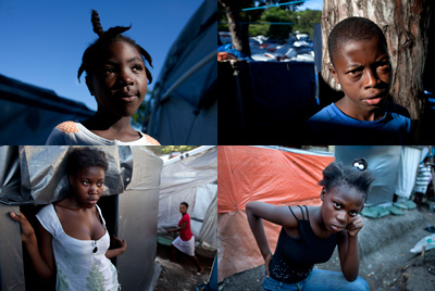 These children, many of whom lost their parents in the quake, live in a massive camp in Port-au-Prince