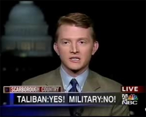 Flagg Youngblood: The young conservative criticizes his alma mater, Yale, on MSNBC for axing ROTC. / Courtesy of Young America's Foundation