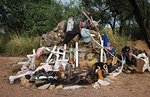 A shrine near Arivaca, Ariz., honors dead crossers.