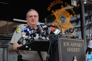 Last fall, without explanation, the Department of Homeland Security rescinded  Arpaio's authority to arrest people under section 287(g)—although deputies can still check the immigration status of people arriving at the jails. In anticipation of the crackd