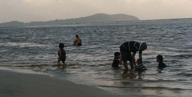 A beach in the town of Balok, just a short distance from Lynas' rare-earth refinery