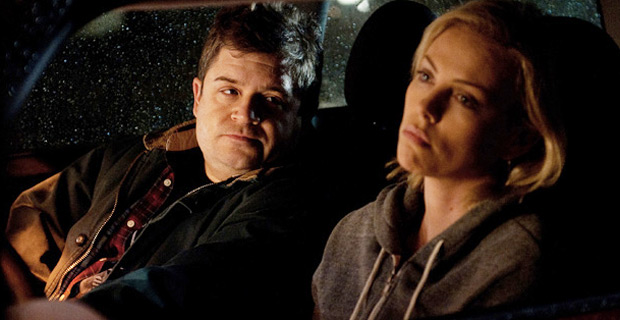 Patton Oswalt, left, and Charlize Theron