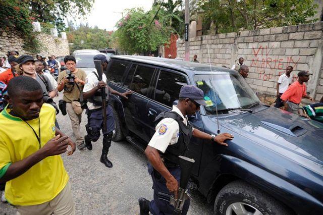 Duvalier's motorcade.