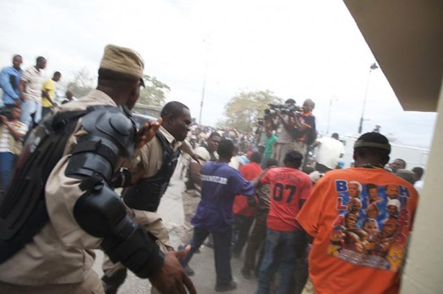...and the Haitian police response.