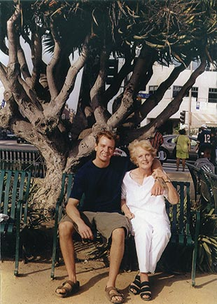 Dan and his mom, Mary Weiss