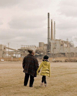 Rhonda Anderson, with her niece N'Deye, grew up near the River Rouge coal plant, which the NAACP calls one of the worst polluters in communities of color.: See more photos of the River Rouge plant.