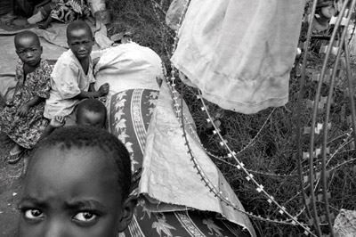 Children internally displaced by the 2008 Kiwanja massacre, carried out by the CNDP while Bosco was military chief of staff.: Photo: Sarah Elliott