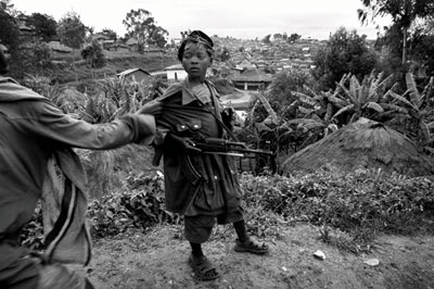 A child soldier north of Goma, 2008.: Marcus Bleasdale/VII