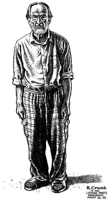 Crumb's self-portrait: Courtesy WW Norton & Company