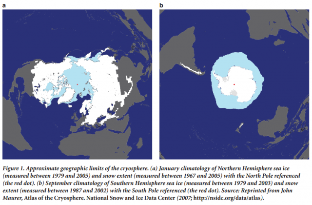 Credit: Andrew G. Fountain, et al. BioSphere. doi:10.1525/bio.2012.62.4.11, from the NSIDC Atlas of the Cryosphere