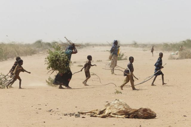 Many refugees seek shelter on the outskirts of Dadaab because the main camps are overcrowded.: Andy Hall/Oxfam/Flickr