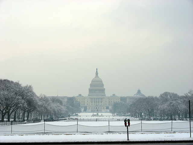 "Nothing says ""indefinite outdoor encampment"" like DC in winter. robinpresta/Flickr"