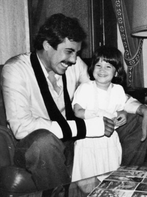 Fatima as a child with her father, Murtaza Bhutto: Photo courtesy Fatima Bhutto