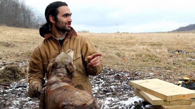 Farmer Adron Dell'osa is packing his house onto a trailer and leaving Pennsylvania: James West