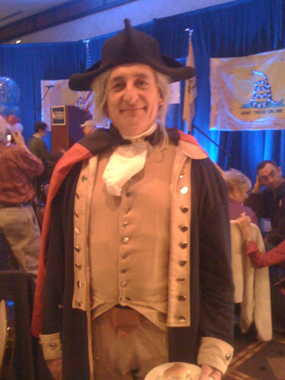 George Washington, a tea partier who is fighting the death penalty, from home in Mt Vernon (really!) : Photo: Stephanie Mencimer