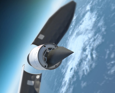 A Hypersonic Technology Vehicle launched from a modified ICBM: Defense Advanced Research Projects Agency