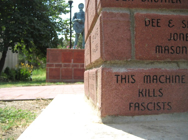 Rambling: Woody Guthrie monument, Okemah, Oklahoma (Photo: Tim Murphy).
