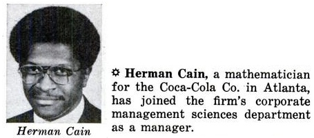 Herman Cain Coke: Jet, April 25, 1974