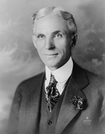 Henry Ford in 1919: Wikmedia