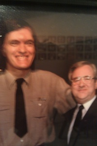 "Jerry and Jaws:: You may know Richard Kiel as Bond villain Jaws, or as Mr. Larson in Happy Gilmore. Jerry Falwell knew him as ""the guy standing next to me"" (Photo: Tim Murphy)."