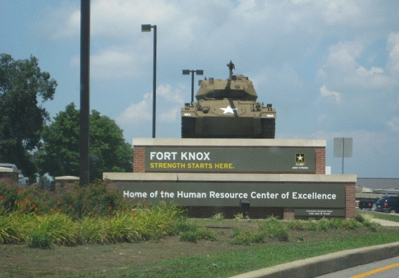 Is it still there?: Fort Knox, Kentucky--This is not the location of the United States Bullion Depository, home to most of the nation's gold supply.  When we stopped by the Fort Knox visitors center and asked to see the gold, we were told that couldn't be arranged. Instead